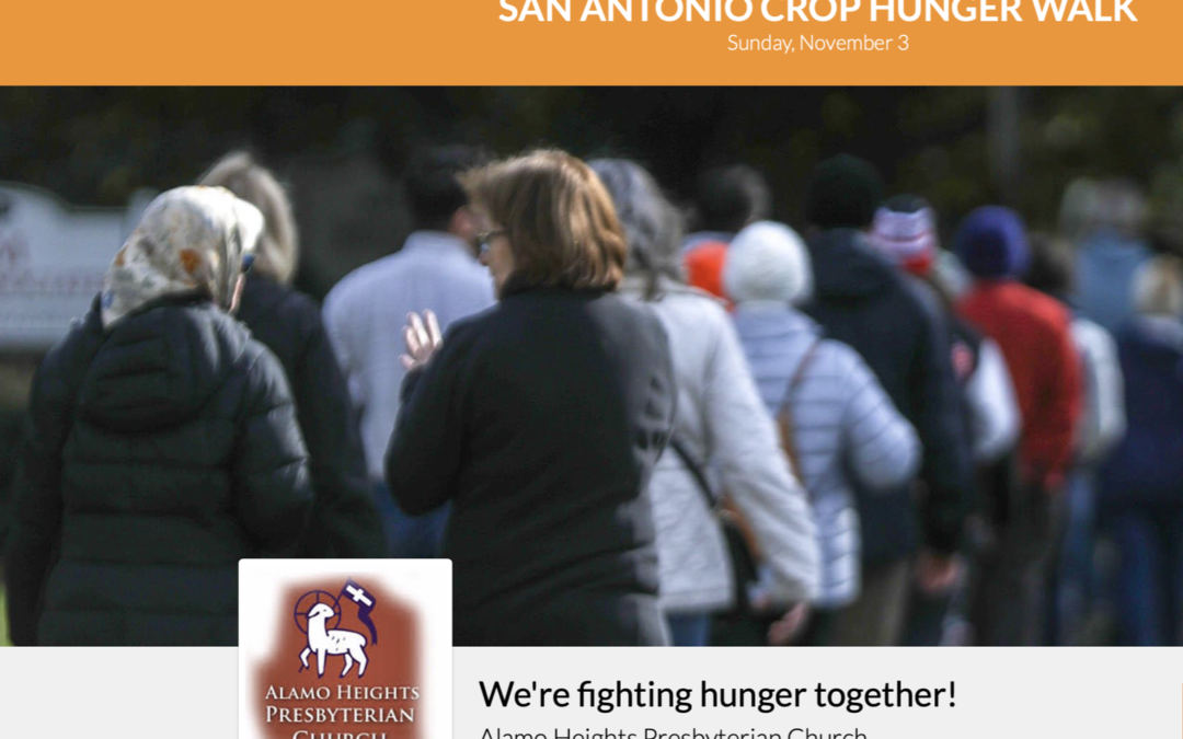 Online giving for the Crop Walk!